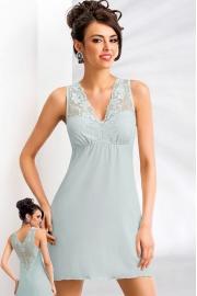 Сорочка Kristina из вискозы с кружевом мятного цвета (Donna)