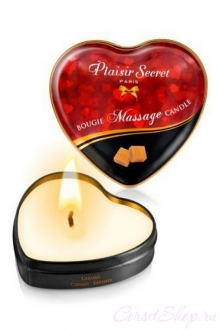 Массажная свеча с ароматом карамели Bougie Massage Candle (Plaisirs Secrets)
